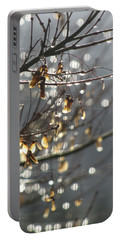 Raindrops And Leaves Portable Battery Charger