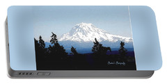 Portable Battery Charger featuring the photograph Rainier Reign by Sadie Reneau