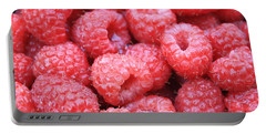 Raspberries Portable Battery Charger by Carol Groenen