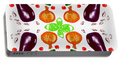 Portable Battery Charger featuring the digital art Ratatouille by Barbara Moignard