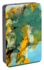 Portable Battery Charger featuring the painting Raven's Flight by Tom Roderick