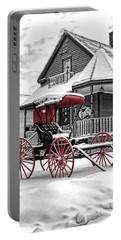 Portable Battery Charger featuring the photograph Red Buggy At Olmsted Falls - 2 by Mark Madere