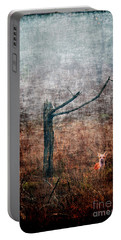 Portable Battery Charger featuring the photograph Red Fox Under Tree by Dan Friend
