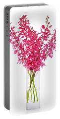 Red Orchid In Vase Portable Battery Charger