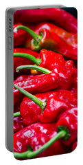 Portable Battery Charger featuring the photograph Red Peppers by Don Schwartz