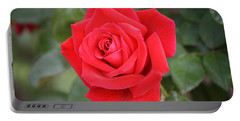 Portable Battery Charger featuring the photograph Red Rose by Donna  Smith