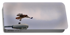 Red-tailed Hawk In Flight Portable Battery Charger
