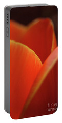 Portable Battery Charger featuring the photograph Red Tulip by Jeannette Hunt