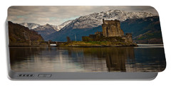 Reflection At Eilean Donan Portable Battery Charger