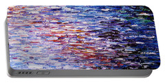 Portable Battery Charger featuring the painting Reflections by Kume Bryant