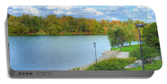 Portable Battery Charger featuring the photograph Relaxing At Hoyt Lake by Michael Frank Jr
