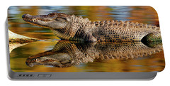 Relection Of An Alligator Portable Battery Charger
