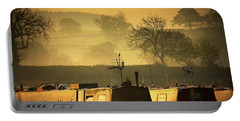Portable Battery Charger featuring the photograph Resting Narrowboats by Linsey Williams