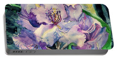 Rhododendron Portable Battery Charger by Mindy Newman