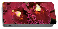 Rich Burgundy Orchids Portable Battery Charger