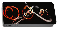 Portable Battery Charger featuring the photograph Burning Rings Of Fire by Clayton Bruster