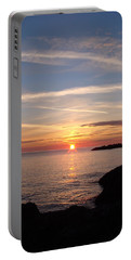 Portable Battery Charger featuring the photograph Rising Sun by Bonfire Photography