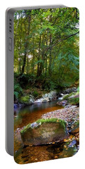 Portable Battery Charger featuring the photograph River In Cawdor Big Wood by Joe Macrae
