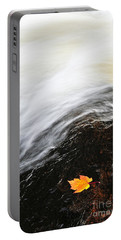 River In Fall Portable Battery Charger