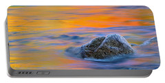 River Rock And Autumn Reflections - Swift River Nh Portable Battery Charger