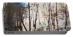 Portable Battery Charger featuring the photograph River Trees by Donna  Smith