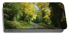 Road Through Autumn Portable Battery Charger