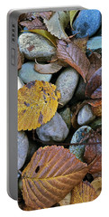 Rocks And Leaves Portable Battery Charger by Bill Owen