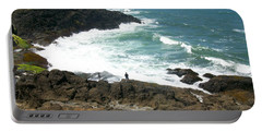 Rocky Ocean Coast Portable Battery Charger