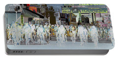 Portable Battery Charger featuring the photograph Rolling Down Bullard Street by Vicki Pelham
