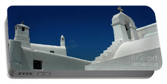 Portable Battery Charger featuring the photograph Rooftops Of Mykonos by Vivian Christopher