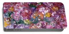 Portable Battery Charger featuring the painting Rose Festival by Alys Caviness-Gober
