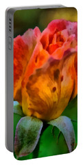 Rose Portable Battery Charger by Lynne Jenkins