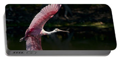 Portable Battery Charger featuring the photograph Roseate Spoonbill by Steven Sparks