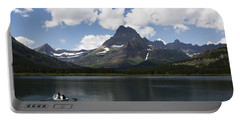 Rowboat At Many Glacier Portable Battery Charger