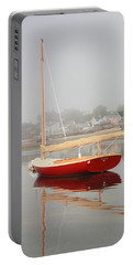 Ruby Red Catboat Portable Battery Charger by Roupen  Baker