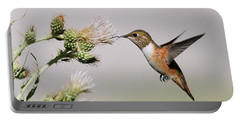 Portable Battery Charger featuring the photograph Rufous Hummingbird by Doug Herr
