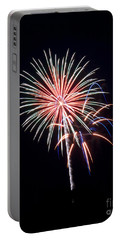 Portable Battery Charger featuring the photograph Rvr Fireworks 16 by Mark Dodd