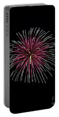Portable Battery Charger featuring the photograph Rvr Fireworks 8 by Mark Dodd