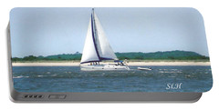 Sailboat On The Water Portable Battery Charger