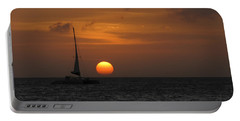 Portable Battery Charger featuring the photograph Sailing Away by David Gleeson