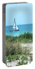 Portable Battery Charger featuring the photograph Sailing by Carol  Bradley