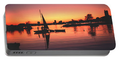 Sailing End Of The Day Backbay  Boston Portable Battery Charger