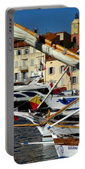 Saint Tropez Harbor Portable Battery Charger by Lainie Wrightson
