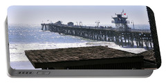 Portable Battery Charger featuring the photograph San Clemente Pier California by Clayton Bruster