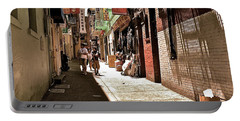 Portable Battery Charger featuring the photograph San Fran Chinatown Alley by Bill Owen