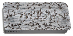 Portable Battery Charger featuring the photograph Sandpipers In Flight by Dan Friend