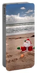 Santa At The Beach Portable Battery Charger