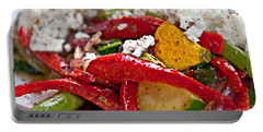 Portable Battery Charger featuring the photograph Sauteed Vegetables With Feta Cheese Art Prints by Valerie Garner