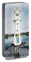 Portable Battery Charger featuring the photograph Scott Memorial Roath Park Cardiff 3 by Steve Purnell