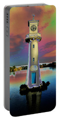 Portable Battery Charger featuring the photograph Scott Memorial Roath Park Cardiff 4 by Steve Purnell